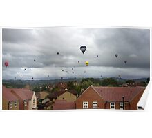 Bristol Balloon above Kingswood Poster