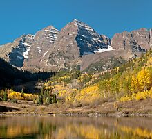 The Maroon Bells In Fall Dress by nikongreg