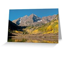 The Maroon Bells In Fall Dress Greeting Card