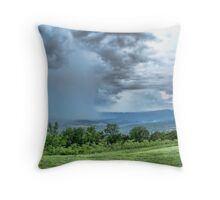 Storm In The Valley Throw Pillow