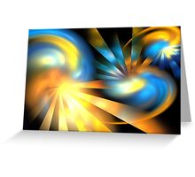 Galaxy Rays Greeting Card