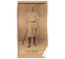 Benjamin K Edwards Collection Buck Ewing New York Giants baseball card portrait 006 Poster