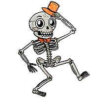 Dancing Skeleton Photographic Print