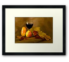 Fruit, Cheese and Wine Framed Print