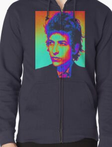 Bob Dylan Psychedelic Zipped Hoodie