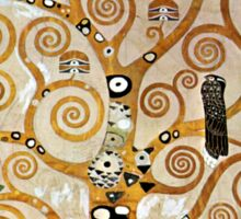 Gustav Klimt Golden Tree of Life with Bird Sticker
