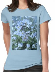 Myosotis (forget-me-nots) Womens Fitted T-Shirt