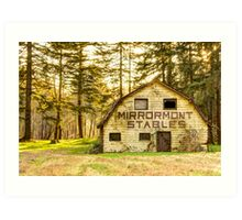 Mirrormont Stables Fades Away Art Print