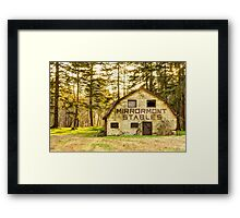 Mirrormont Stables Fades Away Framed Print