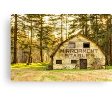 Mirrormont Stables Fades Away Canvas Print