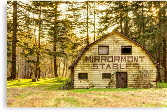 Mirrormont Stables Fades Away by Dale Lockwood
