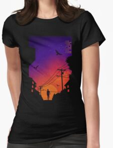 At Dusk Womens Fitted T-Shirt