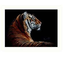 Burning Bright - tiger Art Print