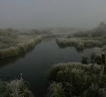 Elk Springs Creek in Fog #1 by Ken McElroy
