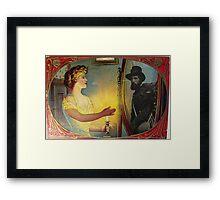 Civil War Apparition (Vintage Halloween Card) Framed Print