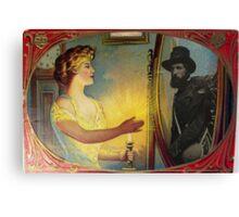 Civil War Apparition (Vintage Halloween Card) Canvas Print