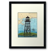 Mobile Point Lighthouse AL Nautical Cathy Peek Art Framed Print