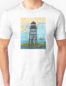 Mobile Point Lighthouse AL Nautical Cathy Peek Art Unisex T-Shirt