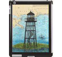 Mobile Point Lighthouse AL Nautical Cathy Peek Art iPad Case/Skin