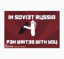 In Soviet Russia Pen Writes With You One Piece - Short Sleeve