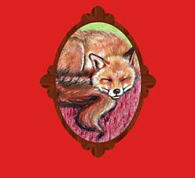 Fox sleeping Womens Fitted T-Shirt