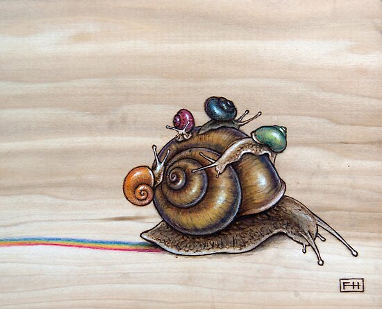 Snail back ride by Fay Helfer