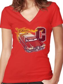 Fury and Fire Women's Fitted V-Neck T-Shirt