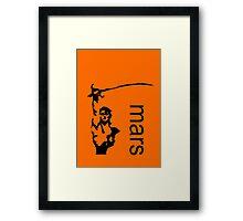 John Carter minimalist poster Framed Print