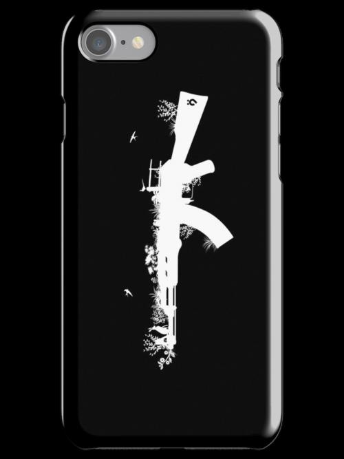 Ak47 Love & Peace (black) by Plastica Tees
