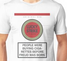 Lucky Strike Cigarette Box with Mad Men Quote Unisex T-Shirt