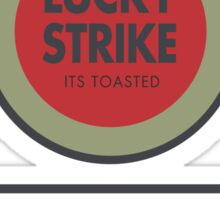 Lucky Strike Cigarette Box with Mad Men Quote Sticker