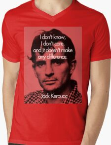 It Doesn't Make a Difference - Jack Kerouac Mens V-Neck T-Shirt