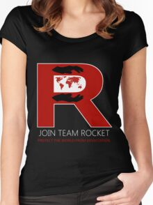 Join Team Rocket! Women's Fitted Scoop T-Shirt