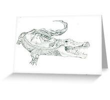 Crocodile World Greeting Card