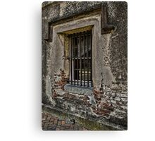 Grungy Facade, Gritty Past Canvas Print