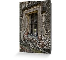 Grungy Facade, Gritty Past Greeting Card