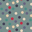 Sage polka dots by Morag Anderson