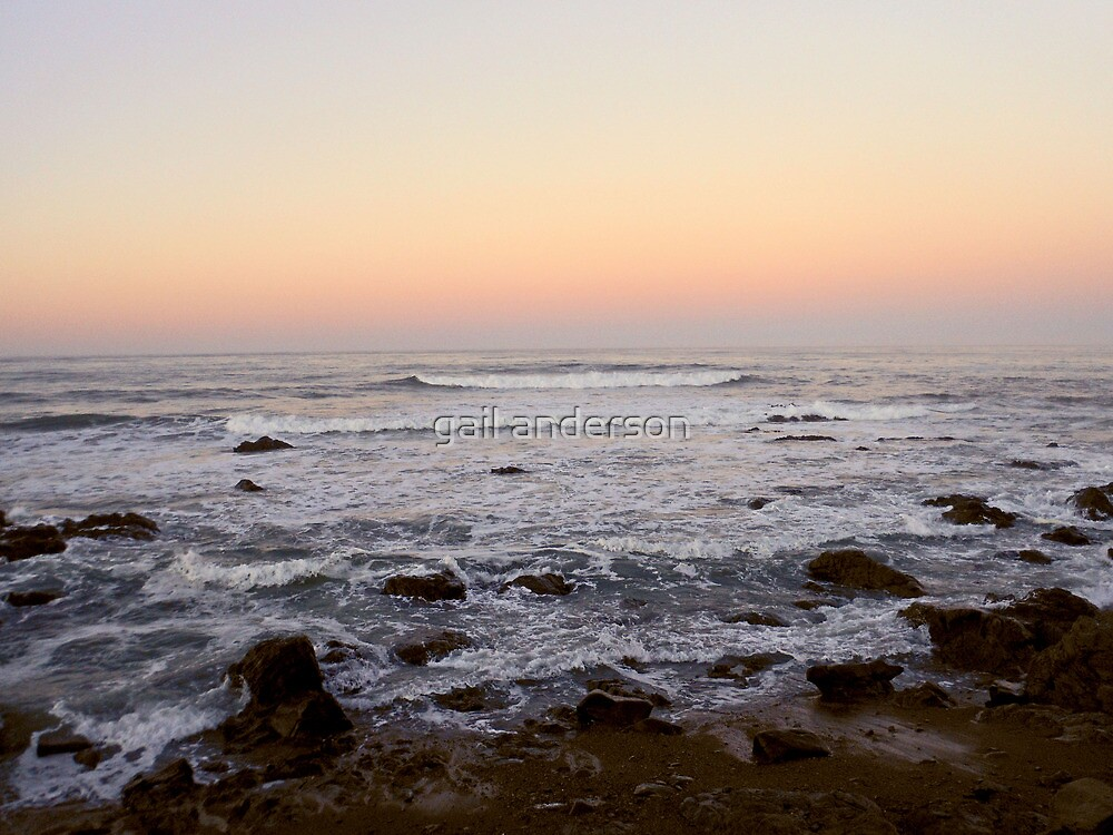 Cambria Sunset by gail anderson