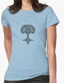 Celtic Tree - Black Womens Fitted T-Shirt