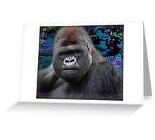 Portrait of an expressive Siverback Gorilla #2 Greeting Card