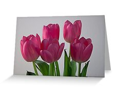 Raising our Tulip Family Greeting Card