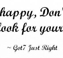 Just Right Got7 lyrics Sticker