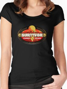 Survivor: Zombie Island Women's Fitted Scoop T-Shirt