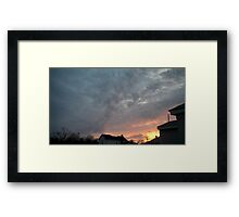 Evening 7 Framed Print