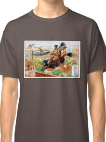 Flying Victorian Sci Fi Chocolate Delivery Classic T-Shirt