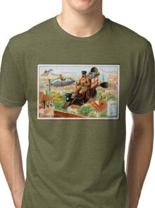 Flying Victorian Sci Fi Chocolate Delivery Tri-blend T-Shirt