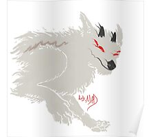 Ghostly Daemon Wolf Poster
