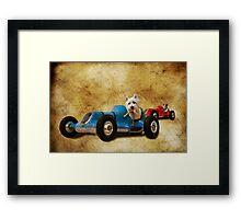 K9 Racers Framed Print