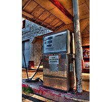 Abandoned Gas Pump  Photographic Print