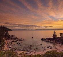 Sun sets at Secret Cove by Richard Thelen